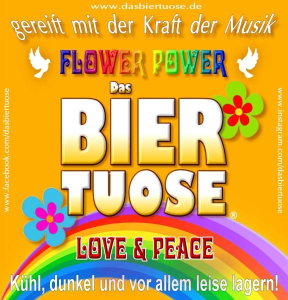"Aufkleber ""Das Biertuose - Flower Power"""